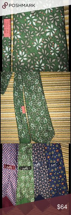 Hermes silk tie green floral 👔 EUC This Hermes silk tie wth green floral design is in EUC. No marks or flaws. Beautiful design, hand rolled edges. 15% bundle discount on 3 or more items! 👔.                    64 Hermes Accessories Ties