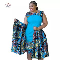 2019 summer african dresses for women Plus Size Women sleeveless cotton Dress o-neck africa print clothing natural African Dresses Plus Size, Short African Dresses, Latest African Fashion Dresses, Ankara Dress Designs, Ankara Dress Styles, African Attire, African Wear, African Fashion Traditional, Long Skirt Fashion
