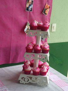 Cupcakes para mesa chá cozinha.