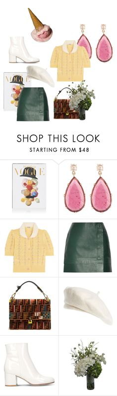"""""""Oops untitled"""" by silkngold ❤ liked on Polyvore featuring Abrams, Jona, Miu Miu, Thierry Mugler, Fendi, Brixton, Gianvito Rossi and Abigail Ahern"""