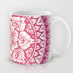 Yin Yang Mandala in Tropical Sunset Mug