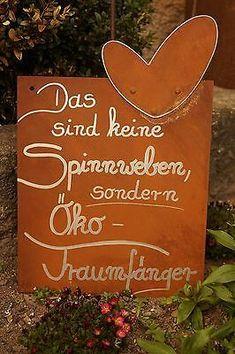 Edelrost Tafel Traumfänger Garten Schild Spruch Geschenk Text Deko Wandschmuck  #edelrost #garten #geschenk #holzgarten #schild #spruch #tafel #traumfanger