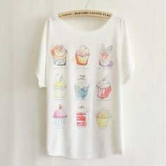 Hot Sale Big Size 21 Colors Womens Tops Fashion 2015 Ice Cream Print Oversized T Shirt camisas estampadas feminino TS0302-in T-Shirts from Women's Clothing & Accessories on Aliexpress.com | Alibaba Group