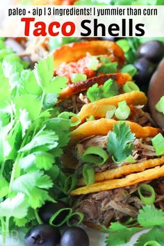 Paleo & AIP Plantain Taco Shells have only 3 ingredients, are simple to make and nourishing! You'll love having taco feasts with these! Made with plantains! Primal Recipes, Mexican Food Recipes, Real Food Recipes, Ethnic Recipes, Whole30 Recipes, Clean Recipes, Free Recipes, Easy Recipes, Healthy Recipes