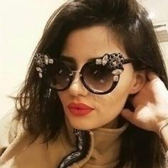 407c44e24503 Euramerican Diamante Decorative Black PC Sunglasses