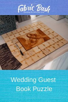 This wedding puzzle is a very unique way for you to remember all who attended your special day. Puzzle can be made in several sizes, custom made for you. Wedding Guest Book, Our Wedding, Dream Wedding, Wedding Stuff, Peonies Centerpiece, Centerpiece Ideas, Wedding Mandap, Wedding Dress, Peonies And Hydrangeas