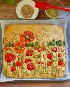 Cute Food, Good Food, Yummy Food, Bread Art, Food Decoration, Aesthetic Food, Creative Food, Food Design, Food Photo