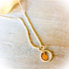 Gorgeous Sun pendant in rose gold, with sterling silver circle, gorgeous yoga jewellery for her.