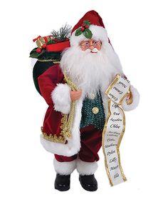 Loving this Regal Red Velvet Santa Figurine on #zulily! #zulilyfinds