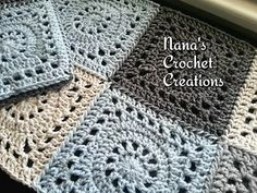 "Nana's ""Granny Wheel"" Square (7"") - free crochet pattern by Nana's Crochet Creations."