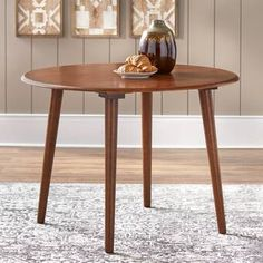 Ophelia & Co. Sinead Dining Table & Reviews | Wayfair White Round Dining Table, Pedestal Dining Table, Solid Wood Dining Table, Extendable Dining Table, Dining Table In Kitchen, Dining Area, Dining Rooms, Table Seating, Table And Chairs