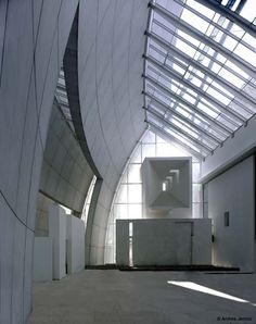 CLERESTORY are any high windows above eye level that bring outside light, fresh air, or both into the inner space. This contemporary example is in the Jubilee Church in Rome, Italy. Architect - Richard Meier