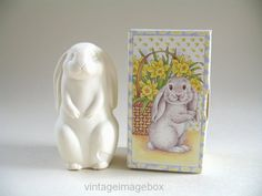 Vintage Avon Easter Rabbit Soap 1980s novelty by VintageImageBox