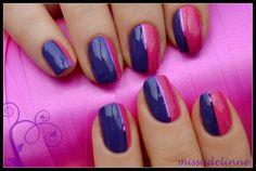 Purple-pink nails
