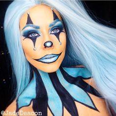 ⭐️ Halloween Makeup Clown, Amazing Halloween Makeup, Halloween Eyes, Clown Makeup, Halloween Looks, Costume Makeup, Halloween Costumes, Joker Makeup, Scary Makeup
