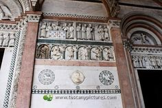 Reliefs on the portico of the cathedral recount St. Martin's life.
