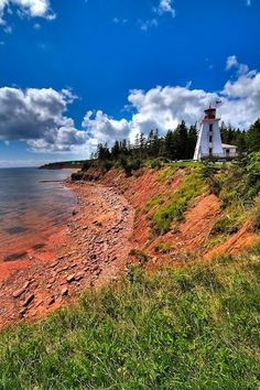 Been to PEI - absolutely beautiful. Cape Bear, Prince Edward Island - located at Cape Bear on the south eastern coast of PEI where it has aided mariners since - Anne McKinnell East Coast Travel, East Coast Road Trip, Prince Edward Island, Nova Scotia, East Coast Canada, Pvt Canada, Places To Travel, Places To Go, Voyager Loin