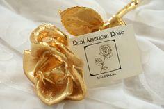 24K Gold Real Rose Romantic Keepsake by GrammaCsCloset on Etsy