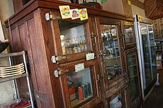 antique wood refrigerator - Google Search