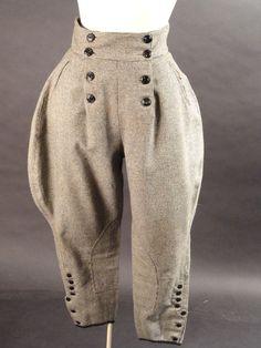 c.1930 Black & White Wool Jodhpurs