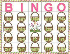 Consonant Cluster and Consonant Digraph Easter Jelly bean Bingo Sight Word Bingo, Sight Word Worksheets, Sight Word Practice, Sight Words, Bingo For Kids, Birthday Games For Kids, Group Games For Kids, Reading Games, Reading Practice