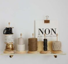 Make this glamorous plexi accent shelf to give your favorite yarn a place of honor. Free tutorial by Design Sponge.