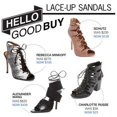 """""""Hello Good Buy: Lace-Up Sandals"""" by polyvore-editorial on Polyvore"""