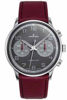 Meister Driver Chronoscope 027/3684.00 Watch, leather strap, stainless steel…