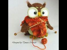 Вязаные совы. Crochet Owl. - YouTube