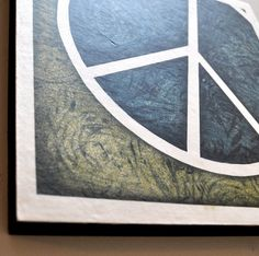 mounted woodblock print