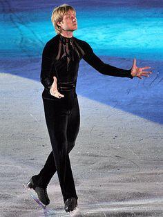 Evgeni Plushenko  - Men's Figure Skating / Ice Skating dress inspiration for Sk8 Gr8 Designs.