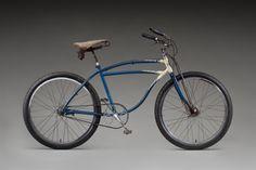The first Mountain Bike. Modified 1941 Schwinn B.F. Goodrich  1973; Arnold, Schwinn, & Co. (est. 1895), Chicago; modified by Joe Breeze (b. 1953), Mill Valley, California; Courtesy of Joe Breeze; L2012.0601.001