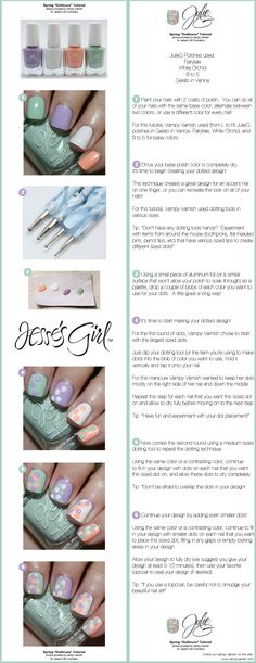 Spring Dotticure Tutorial - Photos provided by Vampy Varnish for Jesses Girl Cosmetics