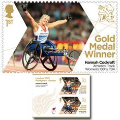 Large image of the ParalympicsGB Gold Medal Winner Miniature Sheet - Hannah Cockcroft