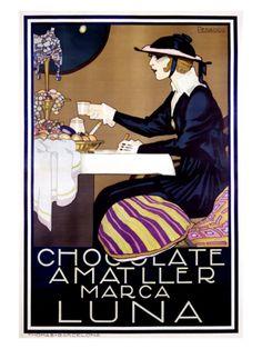 Chocolate Amatller, Luna Giclee Print by Rafael de Penagos at Art.com