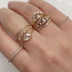 Vale Jewelry Morse, Nova, Pera, Livia, Vesper, Tidals and pavé diamond rings