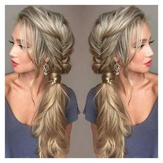 21 Pretty Side-Swept Hairstyles for Prom ❤ liked on Polyvore featuring hair