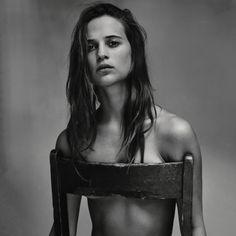 Alicia Vikander goes topless for Interview Magazine June 2015 photoshoot by Craig McDean Craig Mcdean, Alicia Vikander, Fitness Photography, Nude Photography, Portrait Photography, Implied Photography, Fashion Photography, Black And White Portraits, Black And White Photography