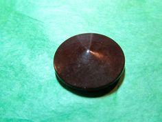 """1-1 & 1/16"""" FLAT CONE SHAPE BROWN PLASTIC 2-HOLE COLT? BUTTON-VINTAGE Lot#CA111"""