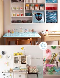 OMG am I in Love with white cabinet on the bottom!