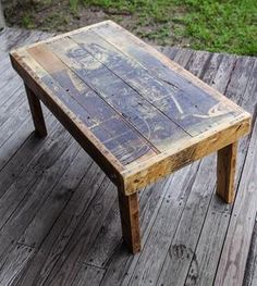 Reclaimed Wood Diver Coffee Table