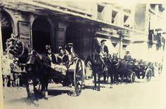 Imagen del Coso, a la altura del teatro Principal, en 1927