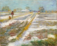 Vincent van Gogh - Landscape With Snow, late February 1888.