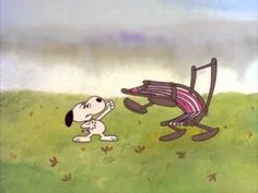 Snoopy vs. the Chair (Official PEANUTS Video)- I love this!