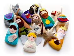 Guirnalda de Natividad fieltro set de 10 festivo fieltro