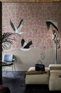Contemporary Wallpaper 2016 collection by Wall&Decò premiered in Paris Wallpaper 2016, Wall Wallpaper, Wallpaper Ideas, Deco Design, Wall Design, Design Trends, Fox Design, Color Trends, Chinoiserie