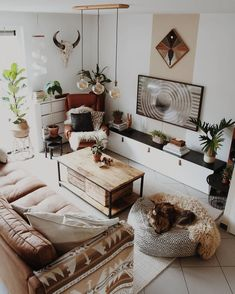 23 Inviting Beige Living Room Design Ideas to Bring a New Dimension to Your Home - The Trending House Boho Living Room, Living Room Decor, Living Spaces, Bedroom Decor, Small Living, Modern Living, Bohemian Living, Minimalist Living, Cozy Bedroom