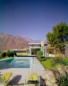An icon of American Modernism the Kaufmann Desert House is an instantly recognizable classic. A perfect marriage of glass, stone, and steel in the desert it is a triumph of modernist ideals and post war exuberance.