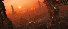 Starcraft II, Matte painting by Jonathan Berube