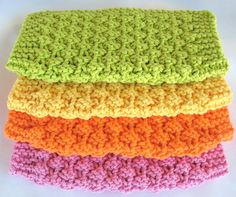 Knit Dishcloth Cotton Washcloth Knitted by SticksNStonesGifts, $16.00